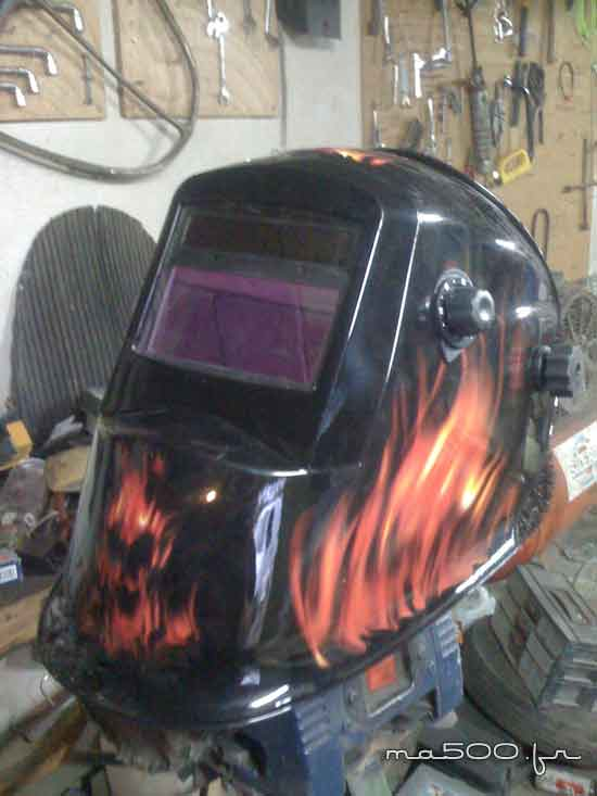 casque de soudure monter garage