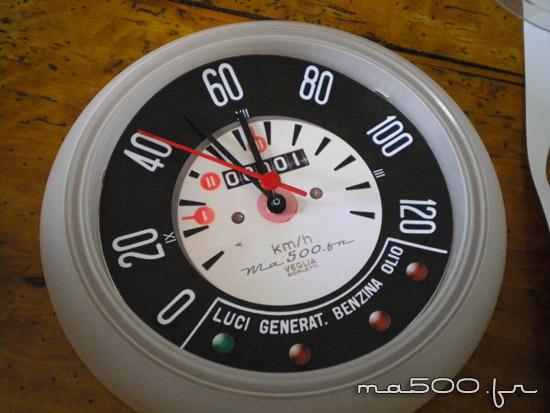 créer une horloge compteur de fiat 500 pour pas cher