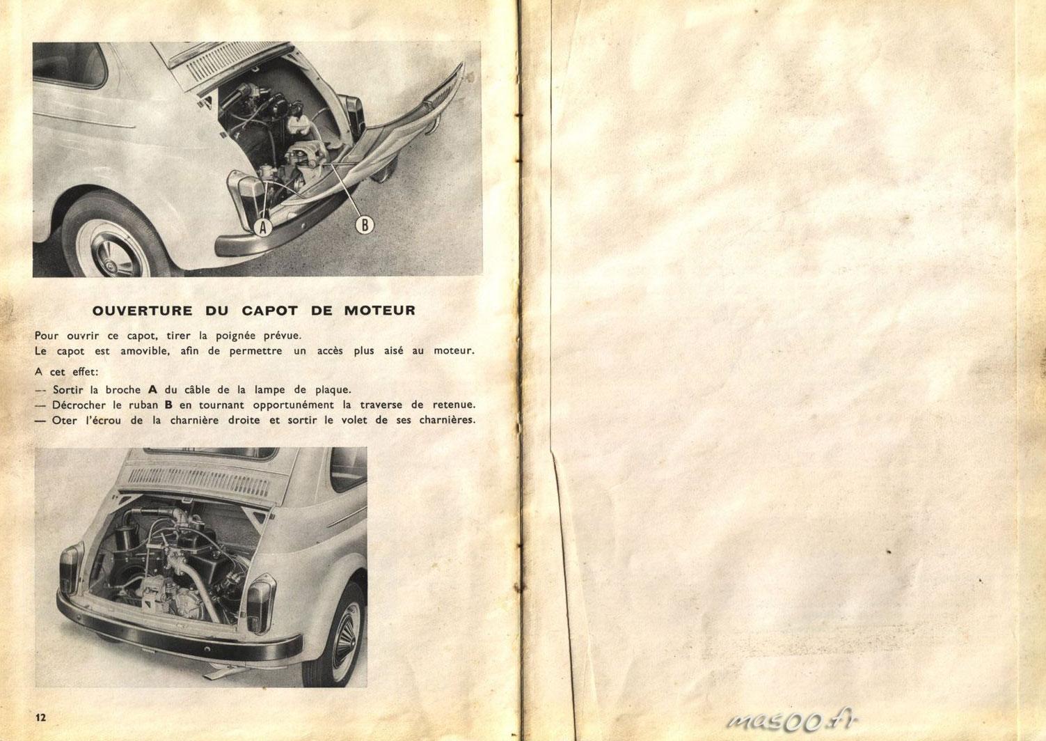 notice d'entretiens de la fiat 500 D par ma500.fr