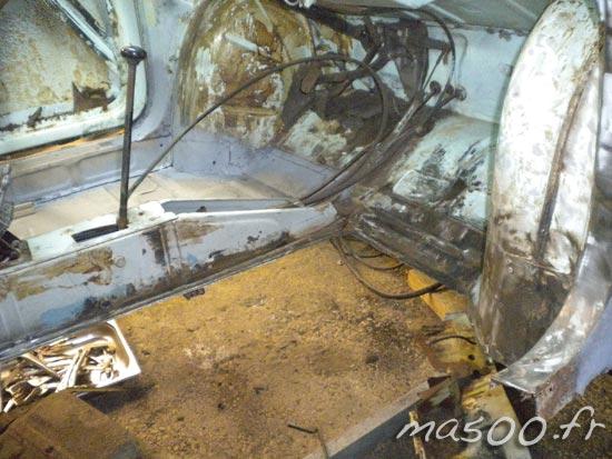 la Fiat 500 D montée sur un tourne broche4