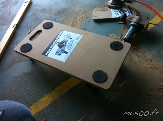 construction d'un Go jack ou dolly pour deplacer une auto sans forcer