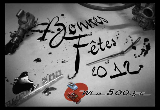 bonne année 2012 fiat 500 126 multipla Gamine eden roc abbate laika500